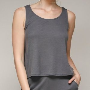 GRAY TIE TANK from Shoptique